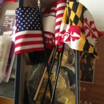 US and Maryland Flags